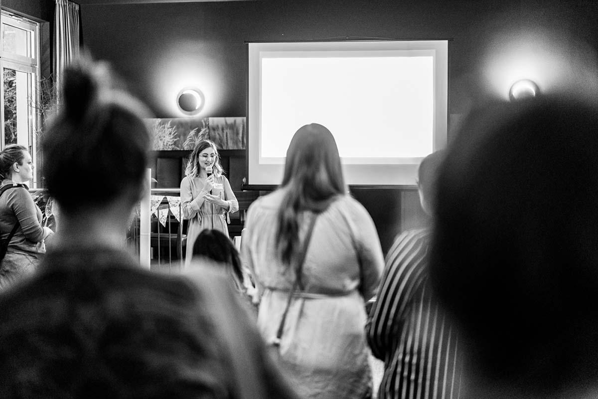 Vortrag über nachhaltiges Heiraten von die Traufrau beim Green Wedding Event